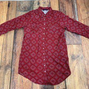 Tommy Hilfiger Red Bandanna Pearl Snap Shirt XL